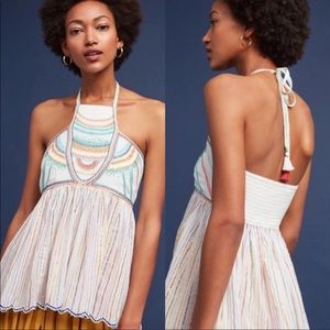NWT Anthropologie • Floreat Itzel Embroidered Tank